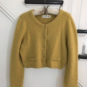 Anthropology crop sweater